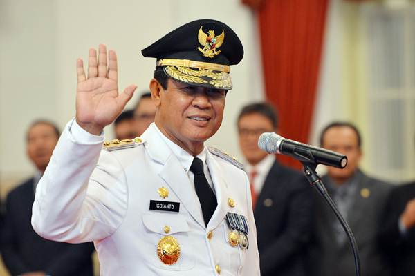 Isdianto di Istana Negara, Jakarta, Selasa (27/3/2018). - ANTARA/Wahyu Putro A
