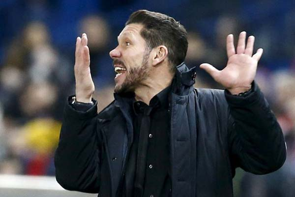 Pelatih Atletico Madrid Diego Simeone - Reuters