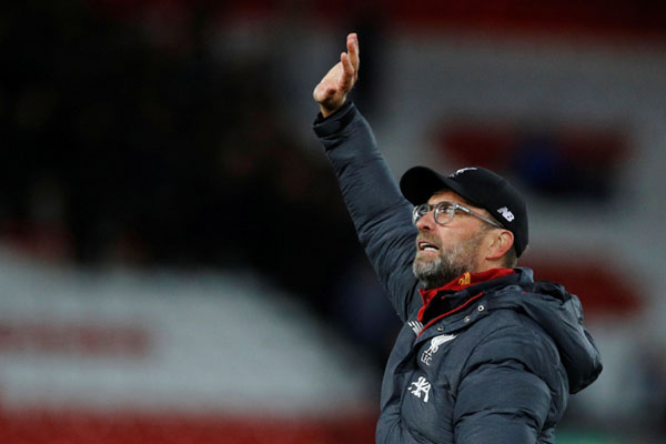 Pelatih Liverpool FC Jurgen Klopp. - Reuters/Phil Noble
