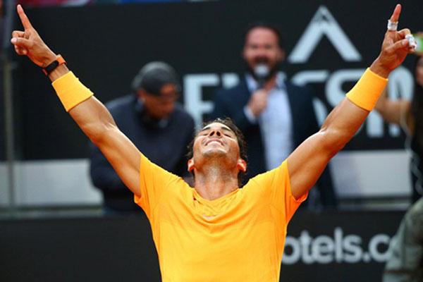 Petenis Spanyol Rafael Nadal - Reuters/Tony Gentile