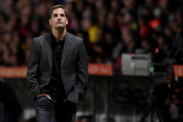Pelatih Monaco Robert Moreno - Reuters/Eloy Alonso