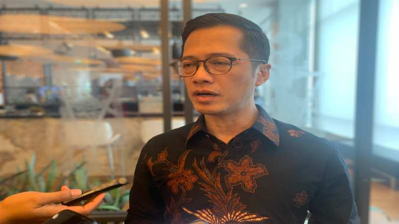 Direktur Perbankan Global Maybank Indonesia Eri Budiono mengungkap target pertumbuhan kredit korporasi untuk 2020, Jakarta, Senin (9/12). - Bisnis/Lalu Rahadian