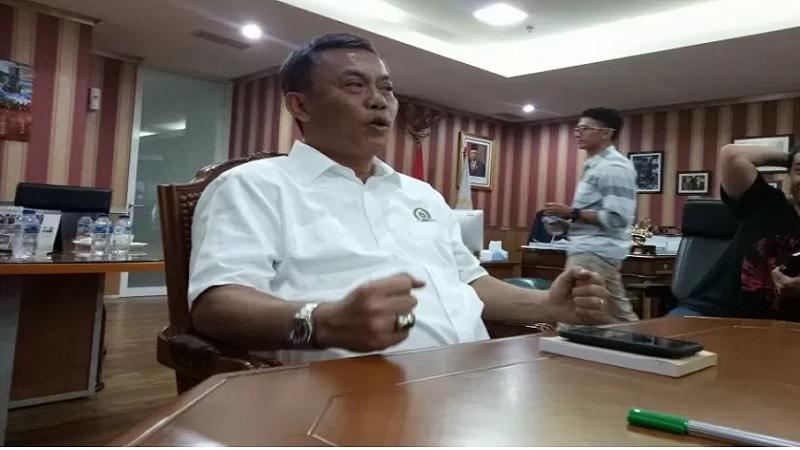 Ketua DPRD DKI Jakarta Prasetio Edi Marsudi saat ditemui wartawan di Gedung DPRD DKI Jakarta, Senin (11/11/2019). - Antara