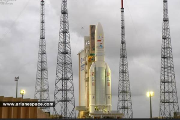 Peluncuran satelit Telkom-3 - youtube/arianespace.com