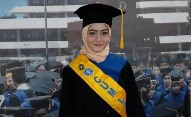 Spirlee Anesta Sanas, wisudawati terbaik IPB University (Antaranews - IPB University)