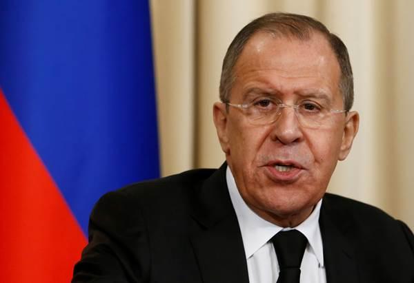 Menlu Rusia Sergei Lavrov - Reuters/Sergei Karpukhin