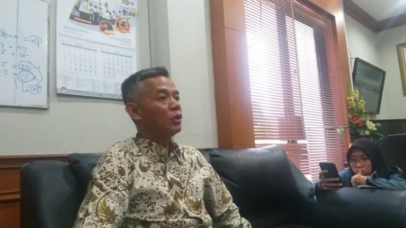 Wahyu Setiawan saat masih menjadi Komisioner Komisi Pemilihan Umum - Bisnis/Jaffry Prabu Prakoso
