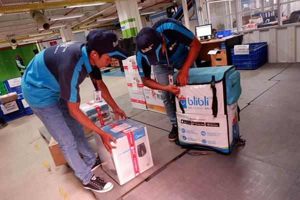 Karyawan Blibli.com siap mengantarkan barang ke pelanggan. - JIBI/Nurul Hidayat