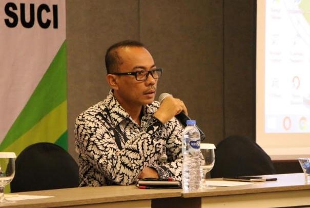 Kepala BPJS Ketenagakerjaan Kantor Cabang Bandung Suci, Suhedi - Bisnis/Dea Andriyawan