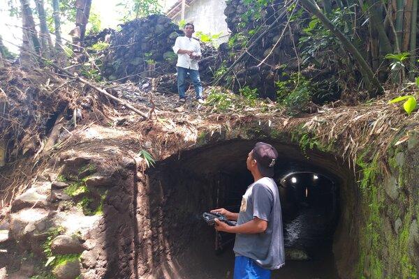 Kondisi terowongan di Cokro Kembang, Daleman, Tulung, Klaten, Kamis (16/1/2020). Terowongan di zaman Belanda itu akan dijadikan sebagai destinasi wisata baru di Cokro. - JIBI/Ponco Suseno