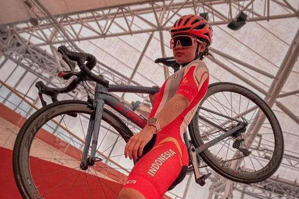 Pebalap sepeda Indonesia Ayustina Delia Priatna. - Antara/Instagram@ayustinadelia