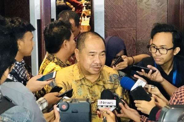 Kepala Pusat Pelaporan dan Analisis Transaksi Keuangan (PPATK) Kiagus Ahmad Badaruddin di Hotel Bidakara, Jakarya, Selasa (21/1/2020). - ANTARA/Astrid Faidlatul Habibah
