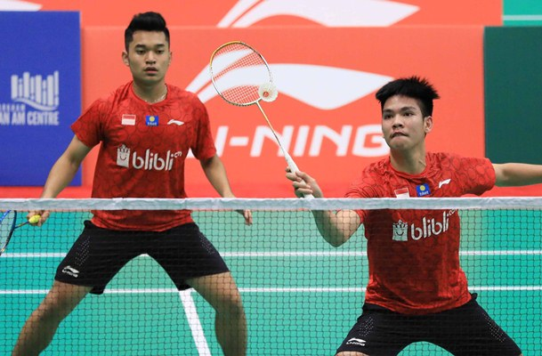 Ganda putra Leo Rolly Carnando-Daniel Marthin  - Badminton Indonesia