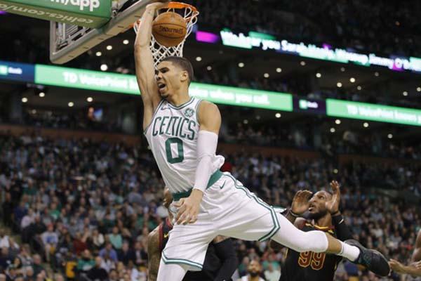 Forward Boston Celtics Jayson Tatum - Reuters