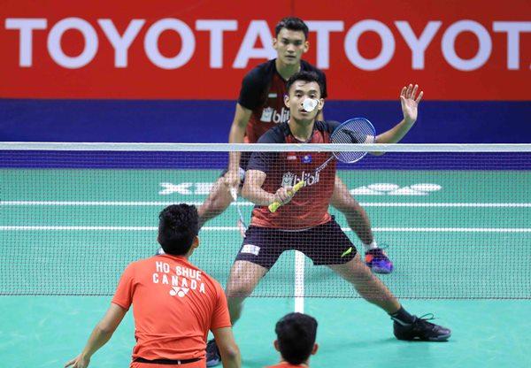 Ganda putra Bagas Maulana-Muhammad Shohibul Fikri  - Badminton Indonesia