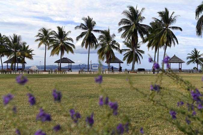 Suasana Kawasan Ekonomi Khusus (KEK) Tanjung Pulisan, Likupang, Kabupaten Minahasa Utara, Sulawesi Utara - ANTARA/Puspa Perwitasari