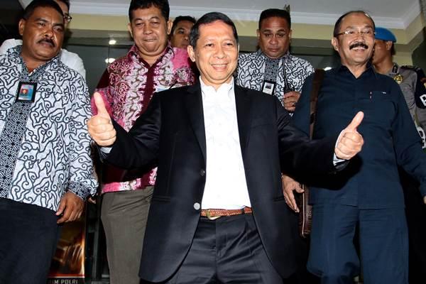 Mantan Direktur Utama PT Pelindo II Richard Joost Lino hari ini menjalani pemeriksaan sebagai tersangka di Komisi Pemberantasan Korupsi. - Antara