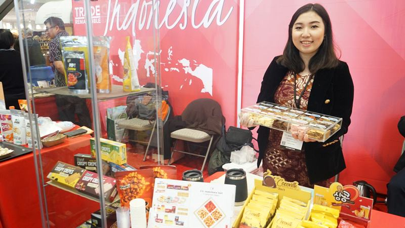 Peserta dari Indonesia dalam pemeran the 45th Winter Fancy Food Show 2020 di San Francisco, California, AS.  - KJRI San Francisco