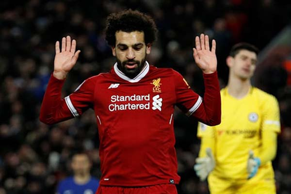 Ujung tombak Liverpool FC Mohamed Salah - Reuters/Phil Noble