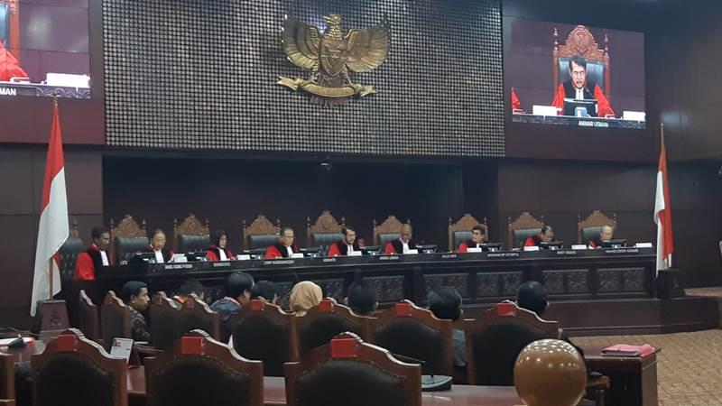 Sidang pengucapan putusan/ketetapan MK di Jakarta, Rabu (29/1/2020). - Bisnis.com/Samdysara Saragih