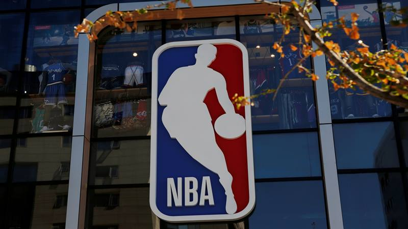 Logo National Basketball Association atau NBA - Reuters