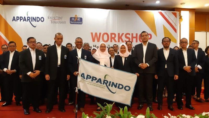 Pelantikanpengurus Apparindo di Grand Sahid Hotel, Jakarta, Kamis (30/1/2020) - Wibi Pangestu