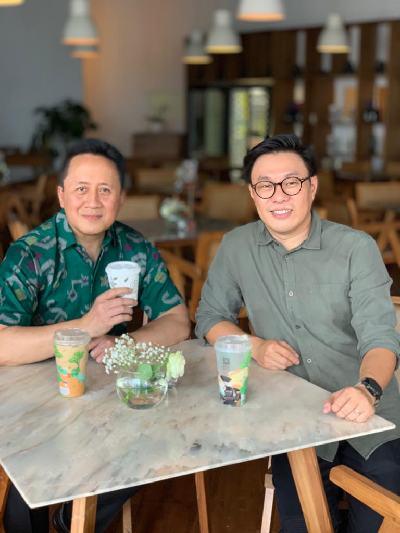 Triawan Munaf bersama Co/Founder sekaligus Managing Partner East VenturesWillson Cuaca