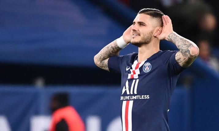 Striker Paris Saint Germain Mauro Icardi