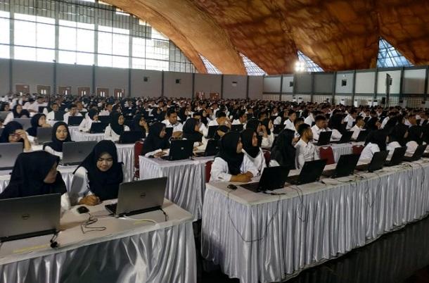 4.694 Orang Ikuti Tes SKD CPNS Purwakarta di Convention Hall Telkom University, Kabupaten Bandung. - Istimewa