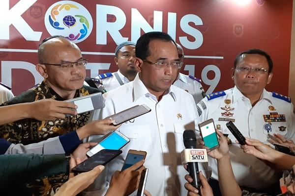 Menteri Perhubungan Budi Karya Sumadi. - Bisnis/Rinaldi M. Azka