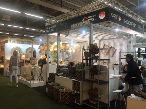 Booth Kementerian Perindustrian dalam pameran Ambiente, Frankfurt - Jerman -  Bisnis / Nurbaiti