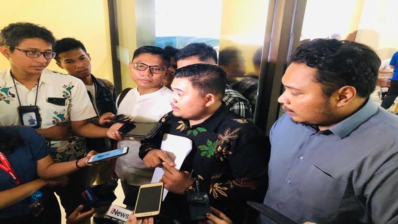Donny Manurung Anggota DPP Jaringan Aktivis Indonesia melaporkan Andre Rosiade ke Bareskrim Polri, Senin (10/2/2020). JIBI - Bisnis/Sholahuddin Al Ayubbi