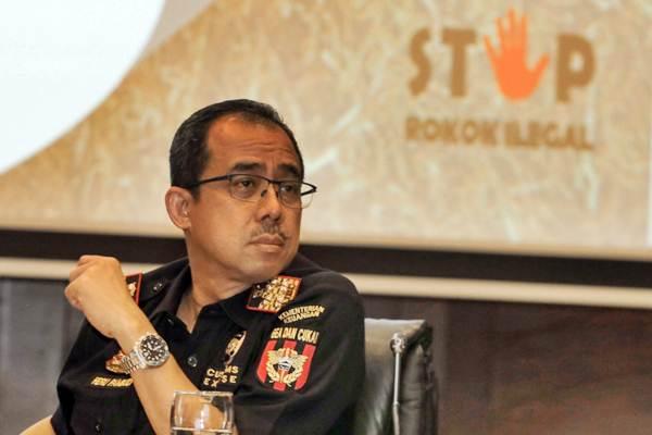 Direktur Jenderal Bea dan Cukai Heru Pambudi memberikan paparan dalam konferensi pers terkait rokok ilegal di Jakarta, Kamis (20/9/2018). - JIBI/Felix Jody Kinarwan