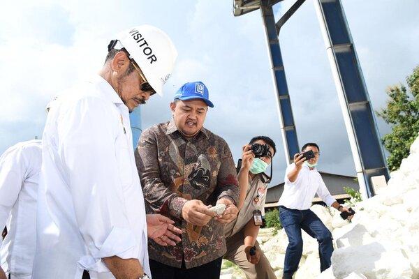Menteri Pertanian (Mentan) Syahrul Yasin Limpo (kiri).