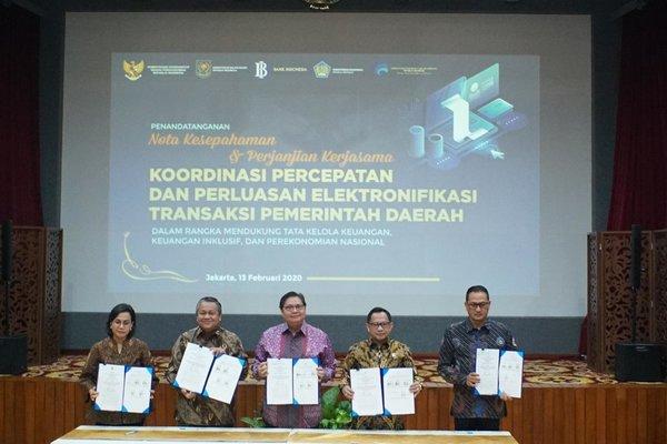 Nota Kesepahaman Koordinasi Percepatan dan Perluasan ETP, Jakarta, Kamis (13/2/2020) - Bank Indonesia)