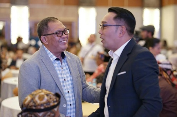 Wali Kota Bandung Oded M Danial (kiri) bersama Gubernur Jabar Ridwan Kamil - Istimewa