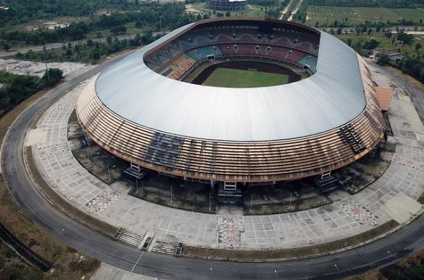 Foto udara Stadion Utama Riau di Kota Pekanbaru - Antara