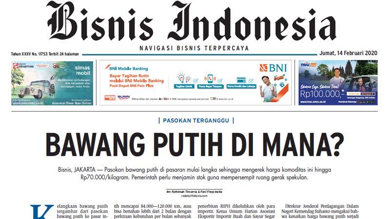 Bisnis Indonesia 14 Februari 2020 - repro