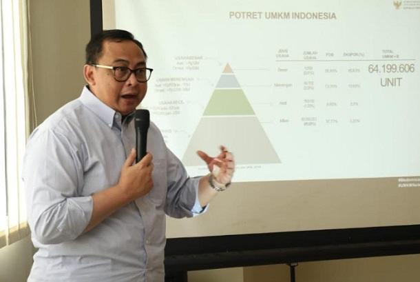 Sekretaris Kementerian Koperasi dan UKM Rully Indrawan - Bisnis/Dea Andriyawan