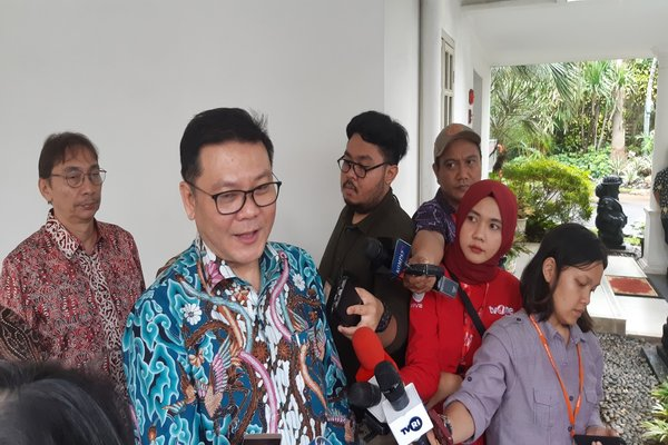 Ketua BRG Nazir Foead usai menemui Wakil Presiden Ma'ruf Amin, di Istana Wapres, Jumat (14/2/2020) - Nindya Aldila.