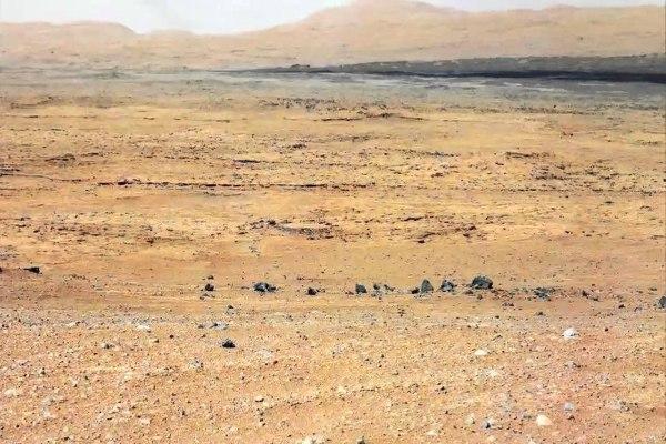Permukaan Planet Mars yang dilaporkan dari kendaraan jelajah Curiosity. - Ilustrasi/www.nasa.gov