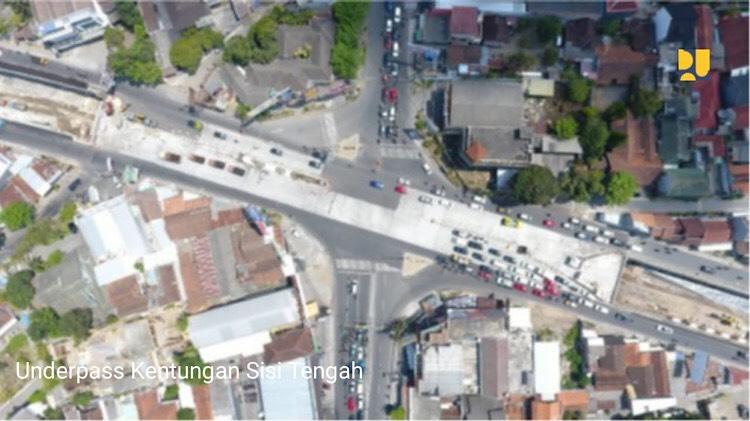 Underpass Kenthungan di Kabupaten Sleman, Provinsi Yogyakarta telah resmi beroperasi pada 16 Februari 2020 - Kementerian PUPR
