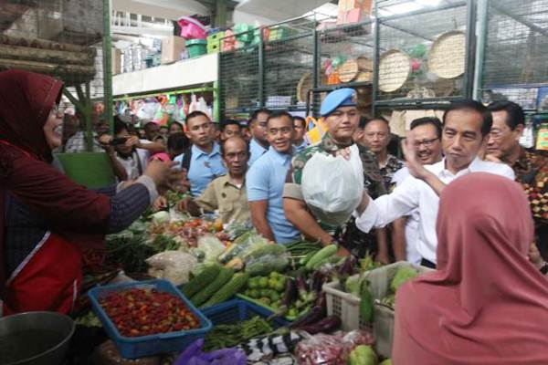 Presiden Joko Widodo blusukan ke Pasar Kranggan, di Yogyakarta, Rabu (25/7/2018). - JIBI/Desi Suryanto