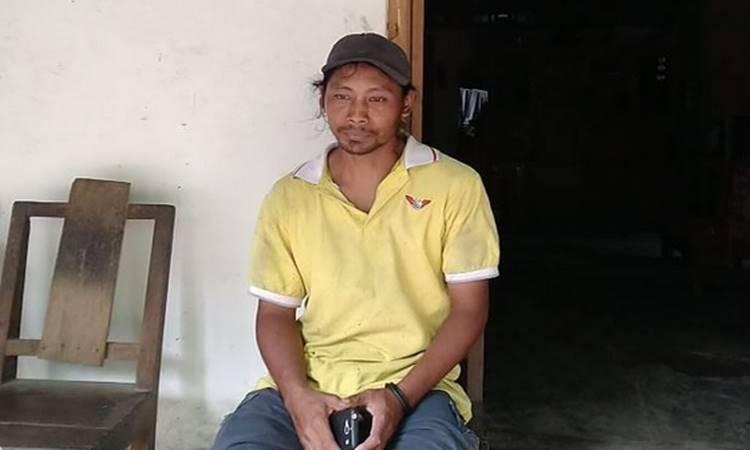 Sudarwanto alias Kodir warga Dusun Kembangarum, Desa Donokerto, Kecamatan Turi yang menyelamatkan puluhan siswa SMPN 1 Turi Sleman saat menyusuri Sungai Sempor. - Twitter@harianjogja.com