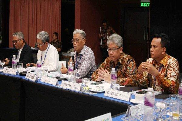 Ketua Asbanda terpilih (tengah) Supriyatno memberikan paparan dalam kegiatan Musyawarah Nasional XX Asbanda di Mercure Hotel, Jakarta (21/2/2020). - Istimewa