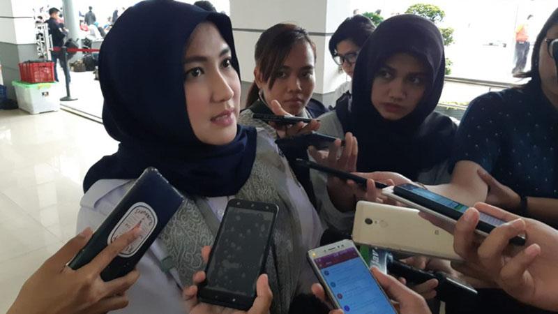 Kahumas KAI Daop 1 Jakarta Eva Chairunisa. - Bisnis/Rio Sandy Pradana