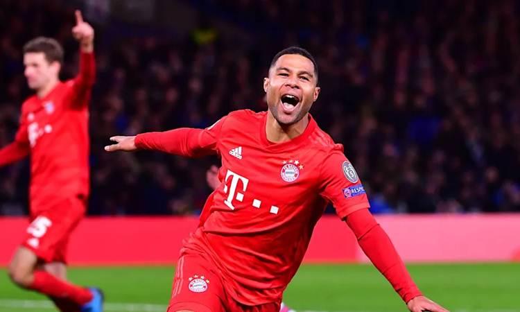 Serge Gnabry sukses mencetak brace saat Bayern Munchen melindas Chelsea 3 gol tanpa balas - fcbayern.com
