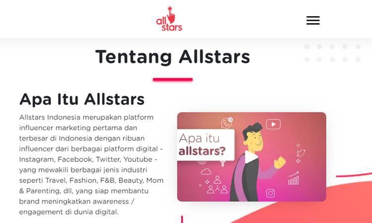 Tangkapan layar website allstar.id