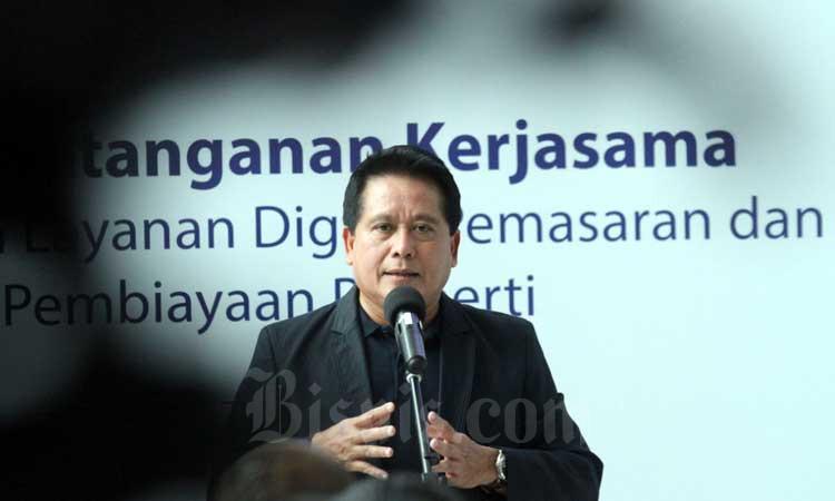 Wakil Direktur Utama Bank Mandiri Hery Gunardi menyampaikan sambutan pada Property Expo di Jakarta, Kamis (27/2/2020). Bisnis - Dedi Gunawan