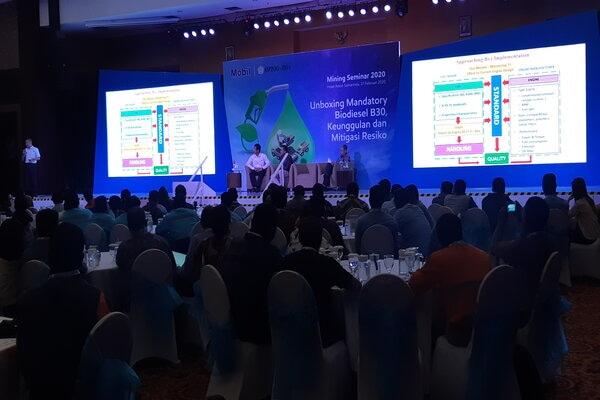Diskusi Unboxing Mandatory Biodiesel 30 persen, keunggulan dan Mitigasi di Samarinda, Kalimantan Timur, Kamis (27/2/2020). - Bisnis/Jaffry Prabu Prakoso